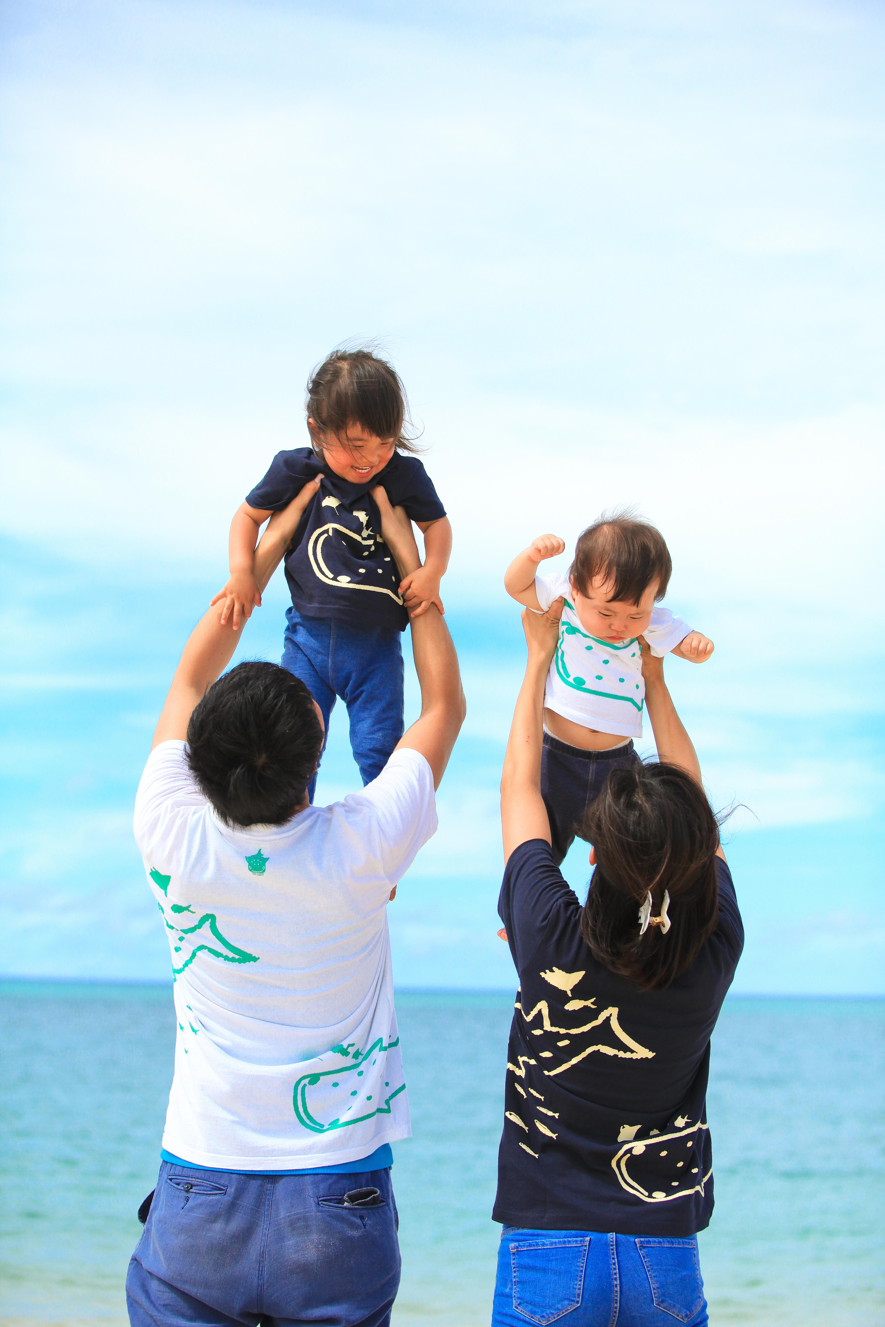 2回目家族写真♪ ちゅらさんビーチ