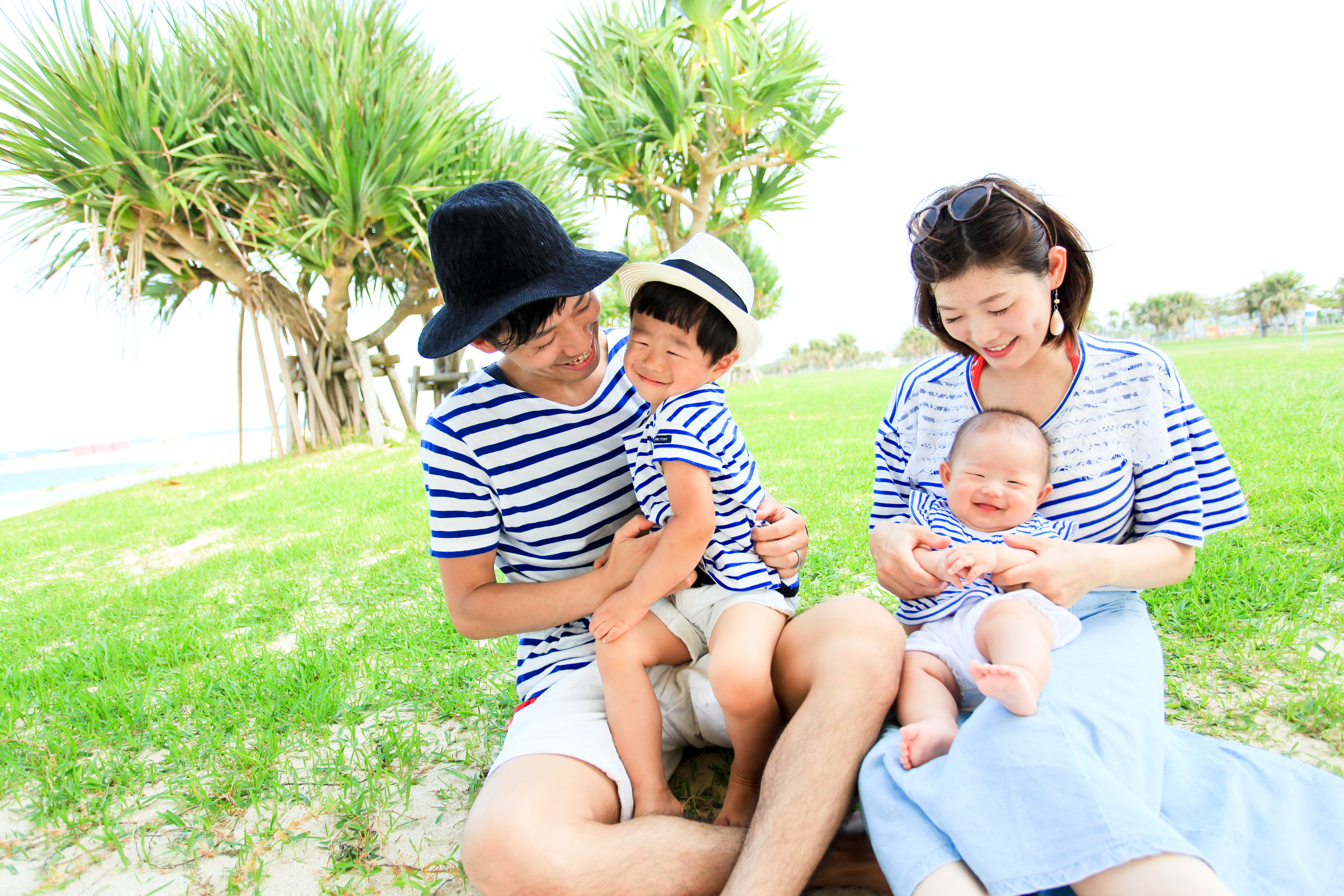 家族写真 ちゅらさんビーチ